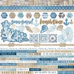 Beach Shack 12 x 12 Cardstock Stickers