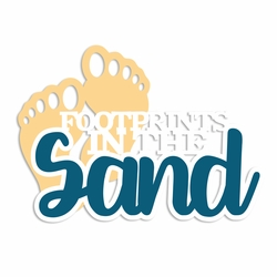 Beach Time: Footprints Laser Die Cut