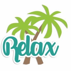 Beach Time: Relax Laser Die Cut