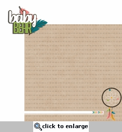 Bear Tribe: Baby Bear 2 Piece Laser Die Cut Kit