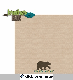 Bear Tribe: Brother Bear 2 Piece Laser Die Cut Kit