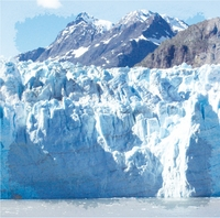 Beautiful Alaska: Glacier Bay 12 x 12 Paper