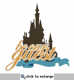 Belle: Be our guest Laser Die Cut