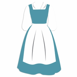 Belle: Blue Dress Laser Die Cut