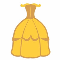 Belle: Yellow Dress Laser Die Cut