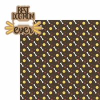 Best Dog Mom 2 Piece Laser Die Cut Kit