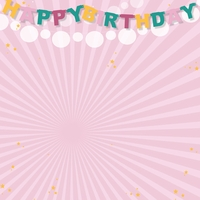 Big Wish: Pink Happy Happy Birthday 12 x 12 Paper