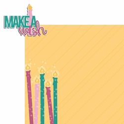 Big Wish: Pink Make a Wish 2 Piece Laser Die Cut Kit