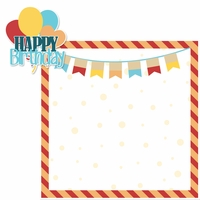 Birthday: Happy Birthday Boy 2 Piece Laser Die Cut Kit