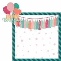 Birthday: Happy Birthday Girl 2 Piece Laser Die Cut Kit