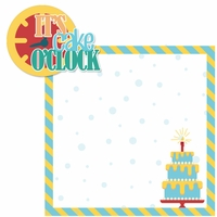 Birthday: It's Cake O'clock Boy 2 Piece Laser Die Cut Kit