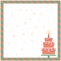 Birthday: It's Cake O'clock Girl 12 x 12 Paper
