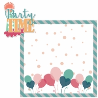 Birthday: Party Time Girl 2 Piece Laser Die Cut Kit