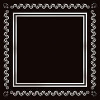 Black and Silver Swirl Border 12 x 12 Paper