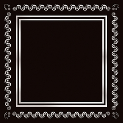 2SYT Black and Silver Swirl Border 12 x 12 Paper