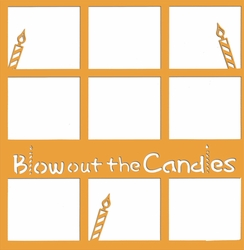 1SYT Blow Out The Candles 12 x 12 Overlay Laser Die Cut