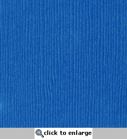 Blue Oasis Grasscloth 12 X 12 Bazzill Cardstock (Blue)