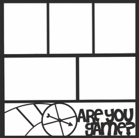Board Games: Are You Game?12 x 12 Overlay Laser Die Cut