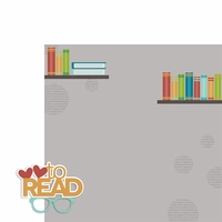 Book Nerd: Love to Read 2 Piece Laser Die Cut Kit