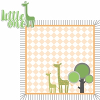 Born to be Wild: Boy Giraffe 2 Piece Laser Die Cut Kit