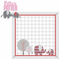 Born to be Wild: Girl Elephant 2 Piece Laser Die Cut Kit