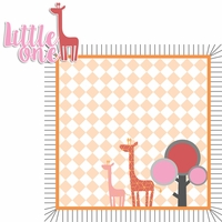 Born to be Wild: Girl Giraffe 2 Piece Laser Die Cut Kit