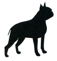 1SYT Boston Terrier Silhouette Laser Die Cut