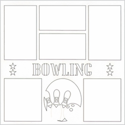2SYT Bowling 12 x 12 Overlay Laser Die Cut