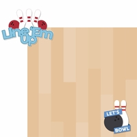 Bowling: Line 'Em Up 2 Piece Laser Die Cut Kit