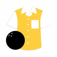 Bowling: Shirt and Bowling ball Laser Die Cut