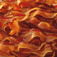 Breakfast Foods: Bacon 12 x 12 Paper