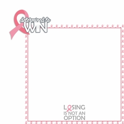Breast Cancer Awareness: Determined to 2 Piece Laser Die Cut Kit
