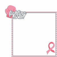 Breast Cancer Awareness: Fighting back 2 Piece Laser Die Cut Kit
