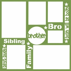 1SYT Brother 12 x 12 Overlay Laser Die Cut
