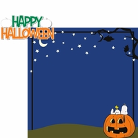 Brown Halloween: Happy Halloween 2 Piece Laser Die Cut Kit