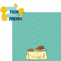 Brown Thanksgiving: Good Food & Friends 2 Piece Laser Die Cut Kit