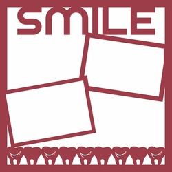 2SYT Brush Rinse Floss: Smile 12 x 12 Overlay Laser Die Cut