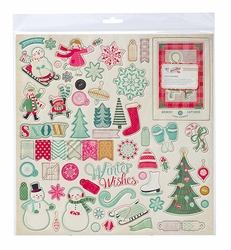 Bundled Up 12 x 12 Chipboard Stickers