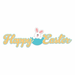 Bunny Time: Happy Easter Laser Die Cut