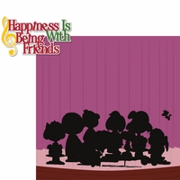 C.B. Christmas: Happiness With Friends 2 Piece Laser Die Cut Kit