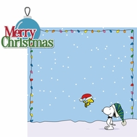C.B. Christmas: Merry Christmas 2 Piece Laser Die Cut Kit