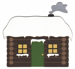 1SYT Cabin With Snow Laser Die Cut