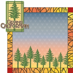 California Adventure: Grand Californian 2 Piece Laser Die Cut Kit