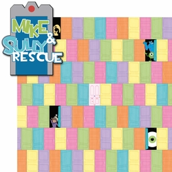 California Adventure: Mike and Sully Rescue 2 Piece Laser Die Cut Kit