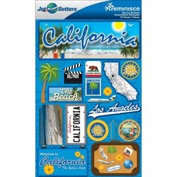 California Jet Setters Dimensional Stickers