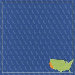 California Travels: CA Label 12 x 12 Paper