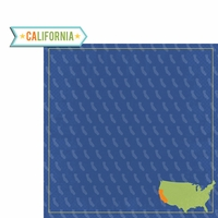 California Travels: CA Label 2 Piece Laser Die Cut Kit