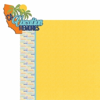 California Travels: CA Vacation Memories 2 Piece Laser Die Cut Kit
