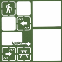 Camping: Logging Your Travels 12 x 12 Overlay Laser Die Cut