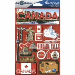 Canada Jet Setters Dimensional Stickers